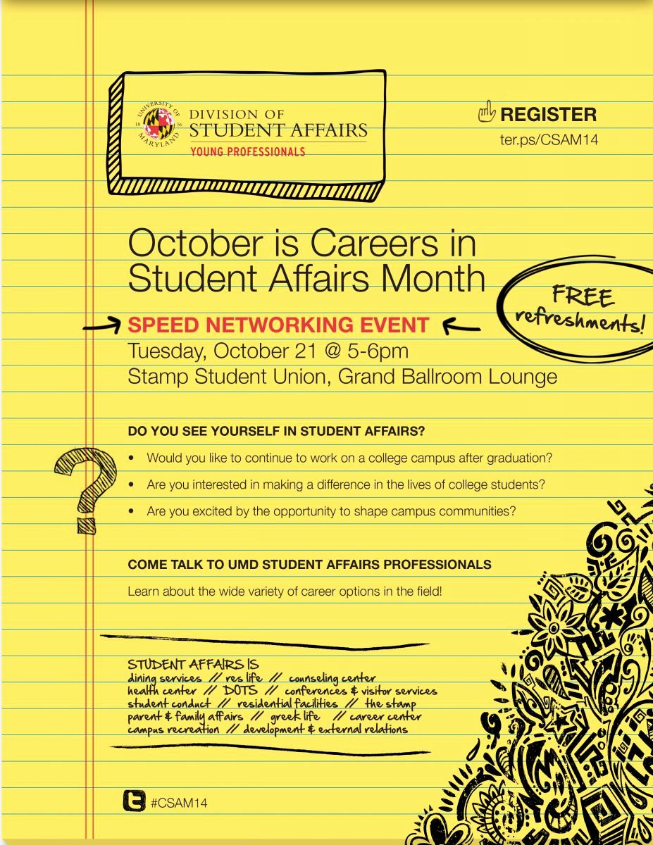 Student Of the Month Banner Luxury Careers In Student Affairs Speed Networking event