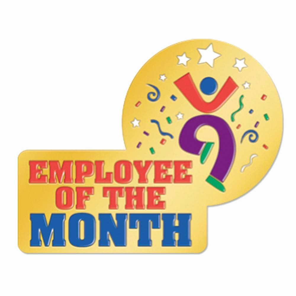 Student Of the Month Banner Luxury Enamel Employee the Month Lapel Pin with Presentation Card