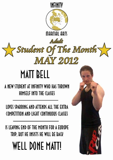 Student Of the Month Banner Luxury Infinity Martial Arts Student the Month