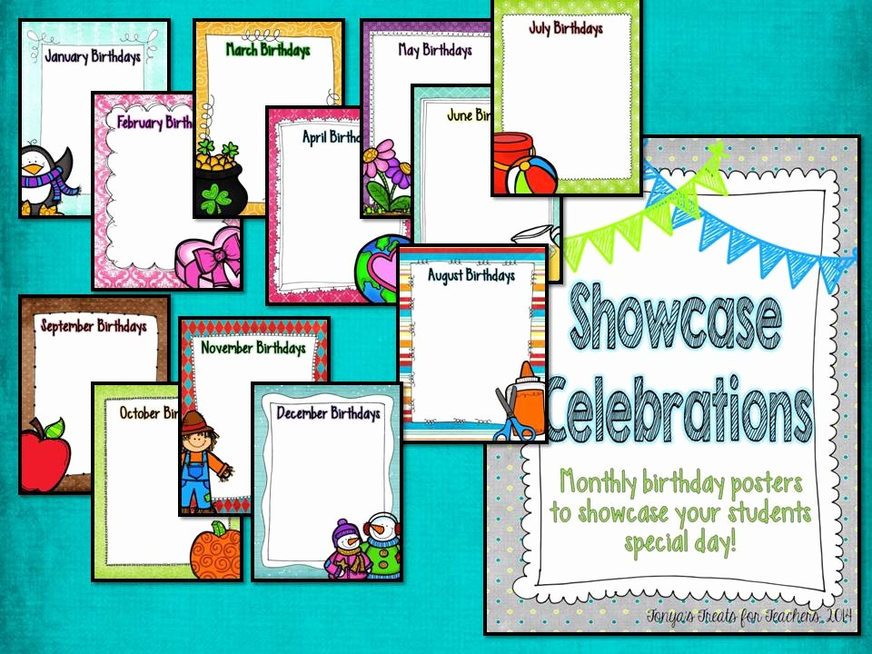 Student Of the Month Banner Luxury tonya S Treats for Teachers Showcase Celebrations A Space