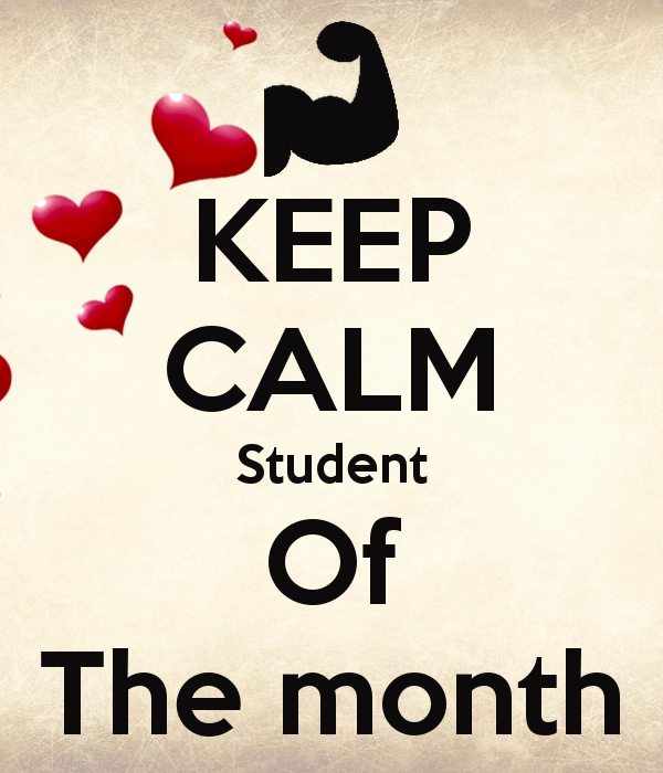 Student Of the Month Banner Unique Keep Calm Student the Month Poster Dory