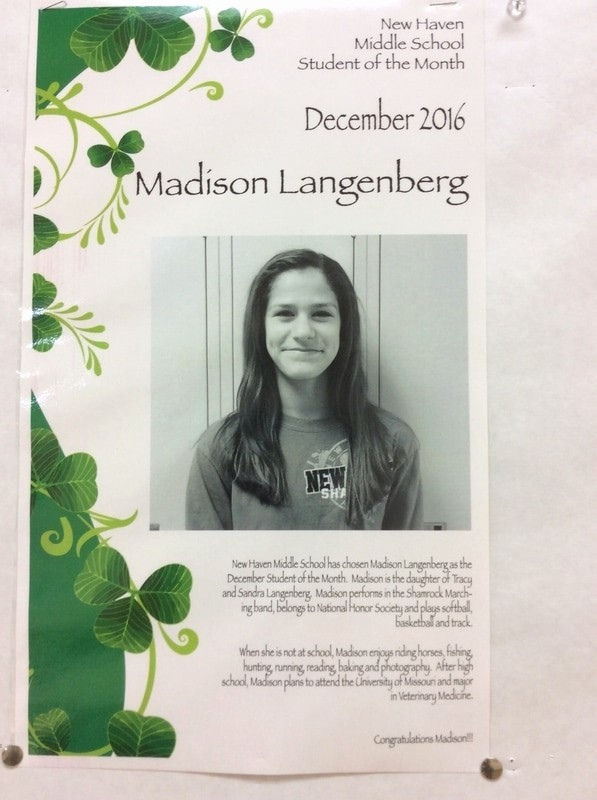 Student Of the Month Banner Unique Langenberg Nhms December Student Of the Month New Haven