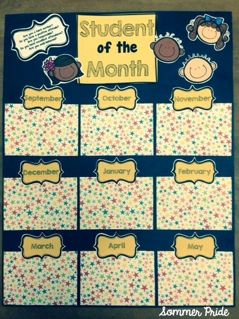 Student Of the Month Banner Unique Monday Made It School Sweets Sewing