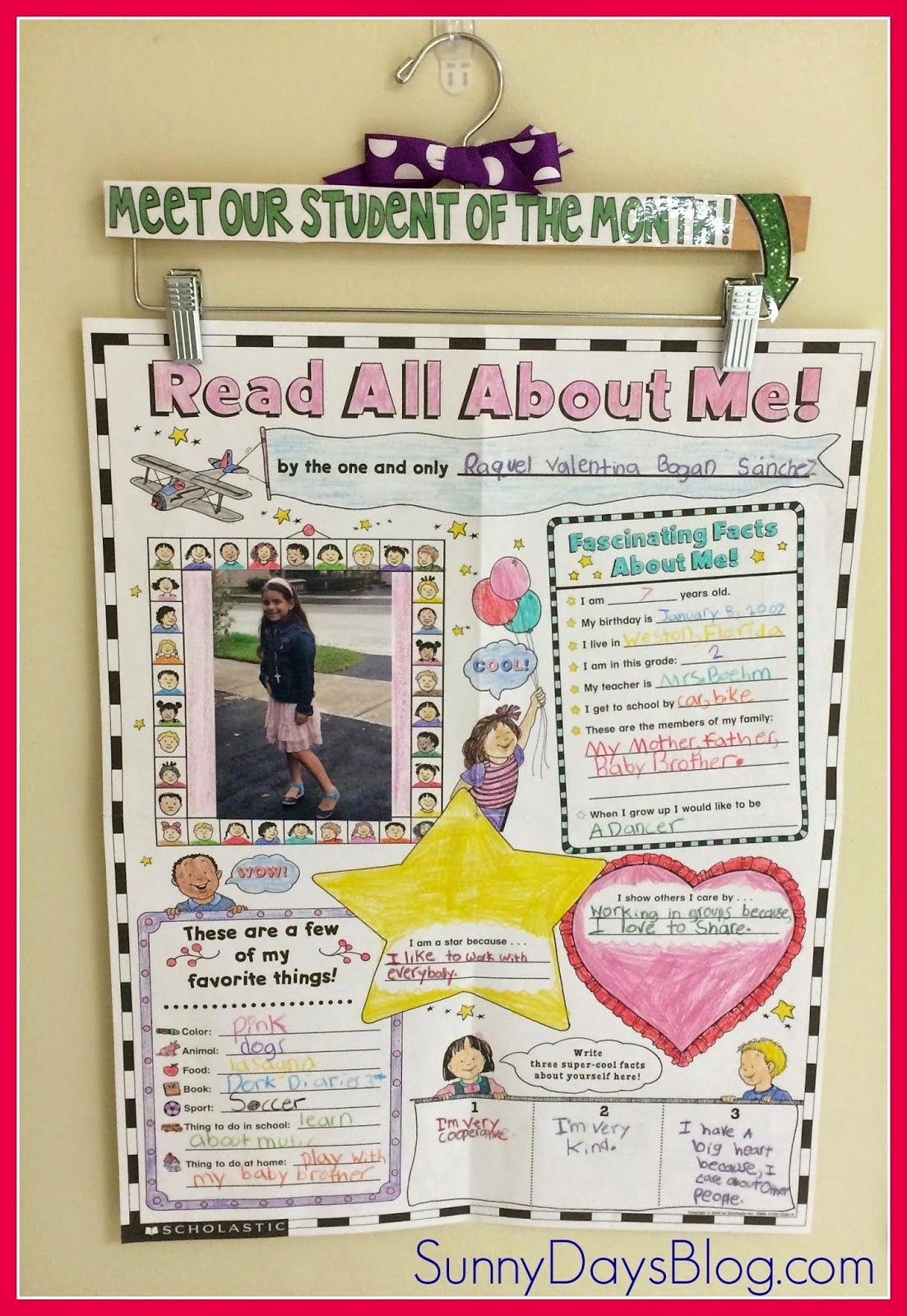 Student Of the Week Posters Awesome Super Student Display Idea Decorate A Hanger to Hold