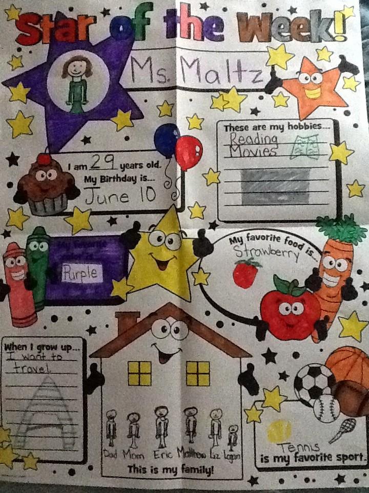 Student Of the Week Posters Best Of Ms Maltz Kindergarten Student Of the Week