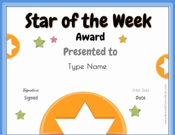 Student Of the Week Posters Elegant Star Of the Week Printables