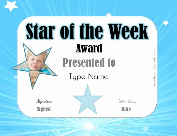 Student Of the Week Posters Lovely Star Of the Week Printables