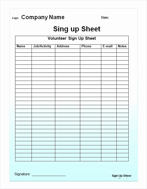 Student Sign In Sheet Template Unique Sign In Sheet Template Word Doc Student Patient