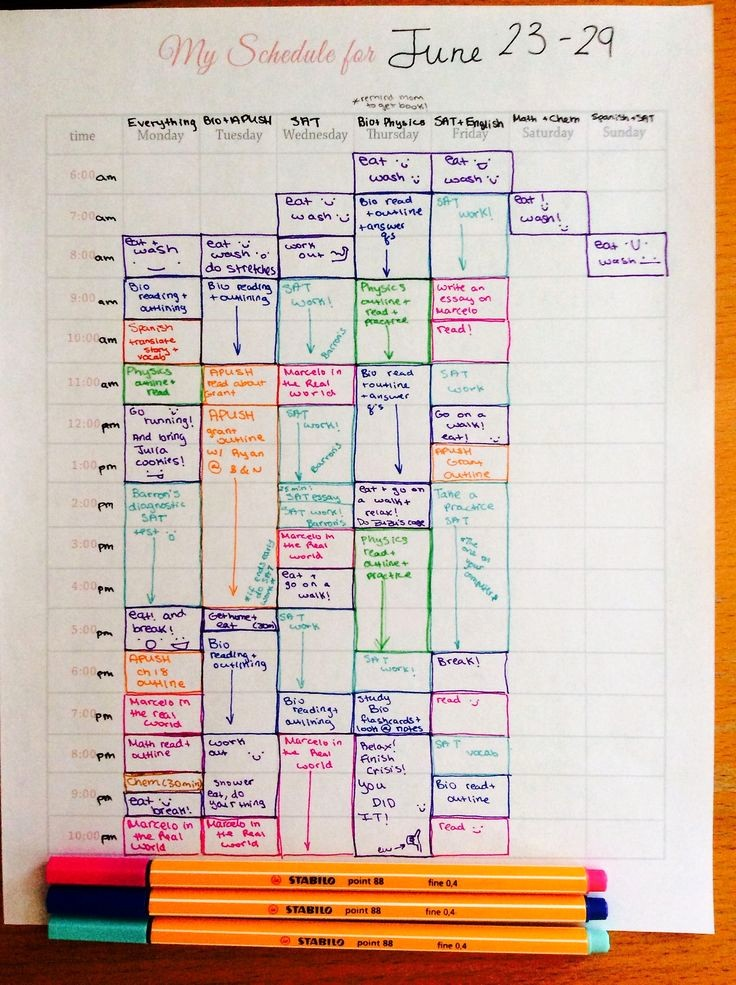 Study Plan Template for Students Elegant Best 25 Study Schedule Ideas On Pinterest