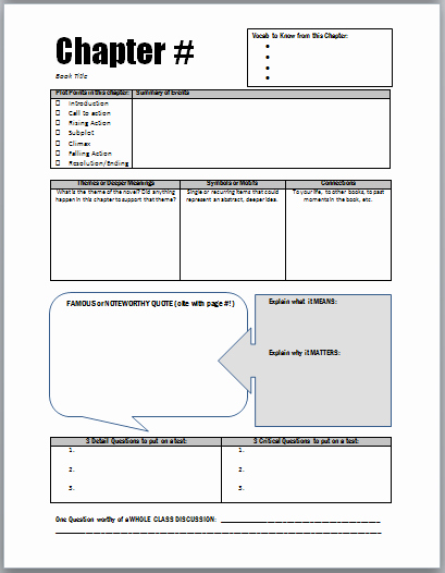 Study Plan Template for Students Luxury Chapter Study Guides Student Led Notes & Discussion for