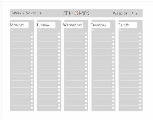 Study Plan Template for Students New 18 Study Schedule Templates Pdf Doc