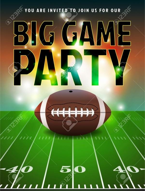 Super Bowl Party Flyer Template Beautiful 21 Super Bowl Invitation Designs Psd Vector Eps Jpg