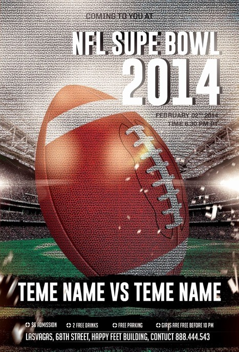 Super Bowl Party Flyer Template Beautiful Nfl Super Bowl Party Shop Psd Flyer Template In