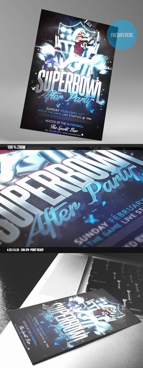 Super Bowl Party Flyer Template Beautiful Superbowl Party Flyer Template by Imperialflyers On Deviantart