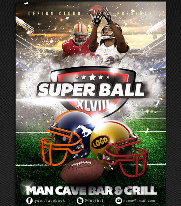 Super Bowl Party Flyer Template Best Of 45 event Flyer Templates Psd Ai Word Eps Vector