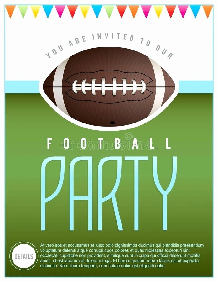 Super Bowl Party Flyer Template Best Of Super Bowl Party Flyer Template Football Party Bar Flyer
