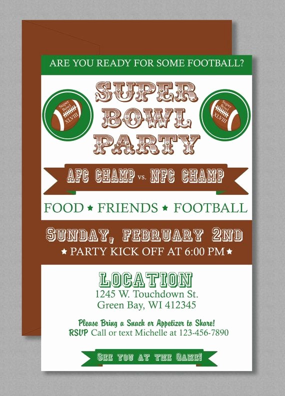 Super Bowl Party Flyer Template Best Of Vintage Super Bowl Invitation Editable Template