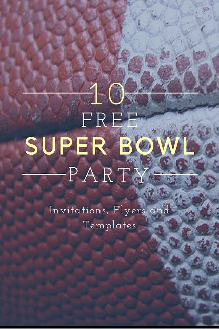 Super Bowl Party Flyer Template Fresh 10 Free Super Bowl Party Invitations & Printable Flyer