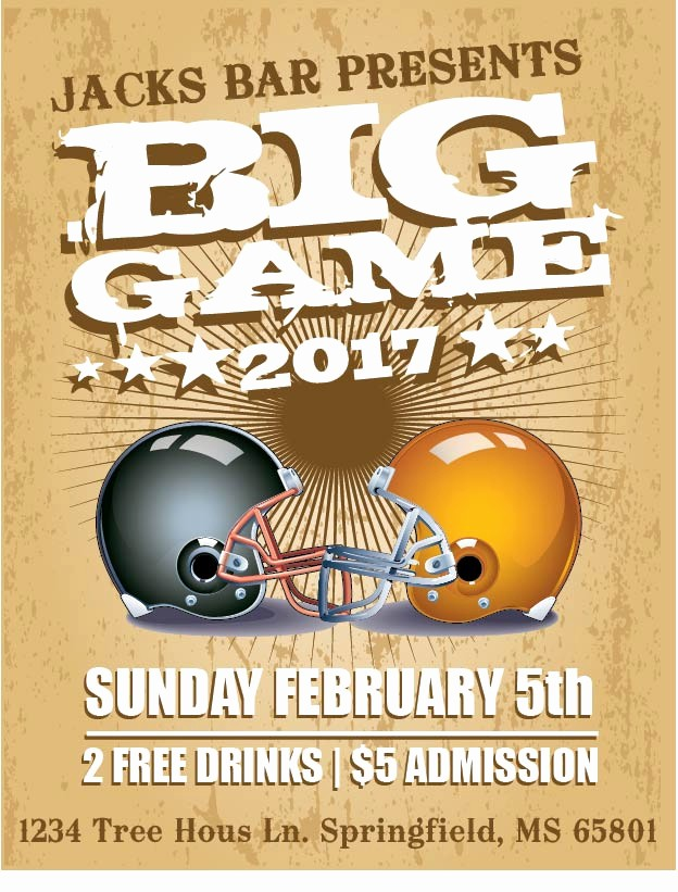 Super Bowl Party Flyer Template Fresh Free Shop and Illustrator Flyer Templates for the