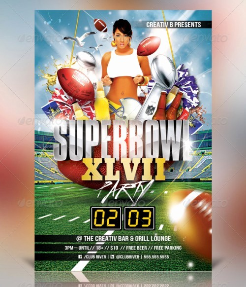 Super Bowl Party Flyer Template Inspirational 18 Stylish Flyer Templates Examples Creativedive