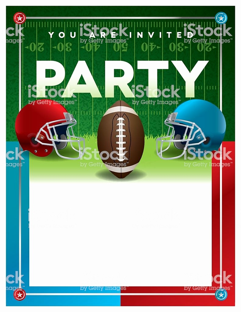 Super Bowl Party Flyer Template Lovely American Football Party Flyer Template Stock Vector Art