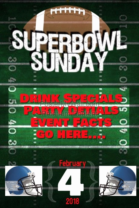 Super Bowl Party Flyer Template Lovely Super Bowl Football Game Schedule event Flyer Poster