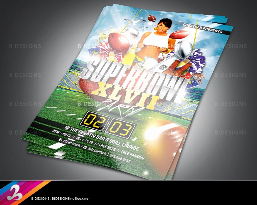 Super Bowl Party Flyer Template Lovely Super Bowl Party Flyer Template by Anotherbcreation On