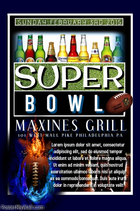 Super Bowl Party Flyer Template Lovely Super Bowl Template