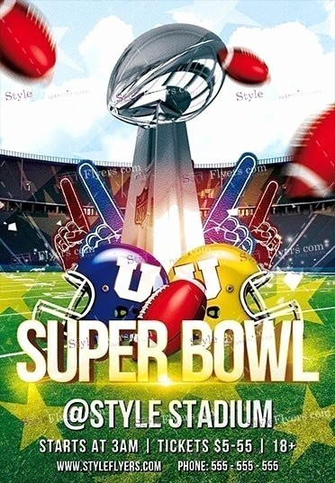 Super Bowl Party Flyer Template Lovely Superbowl Psd Flyer Template Styleflyers