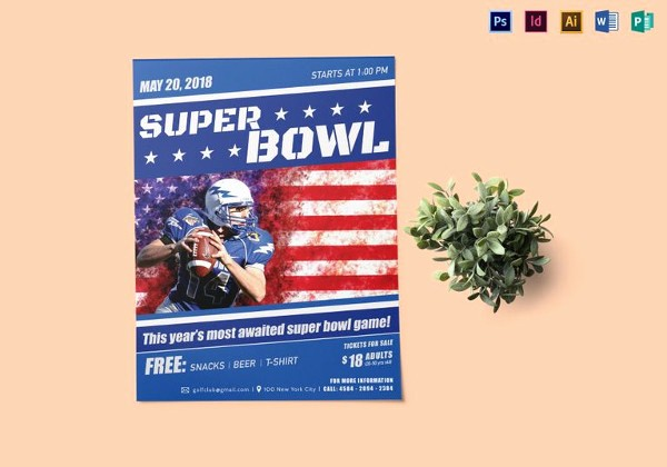 Super Bowl Party Flyer Template Luxury 16 Bowling Flyer Templates Free Psd Ai format Download
