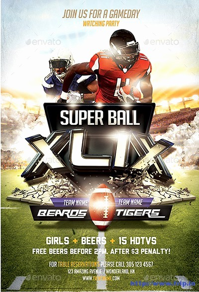 Super Bowl Party Flyer Template Luxury 50 Best Super Bowl Flyer Print Templates 2016