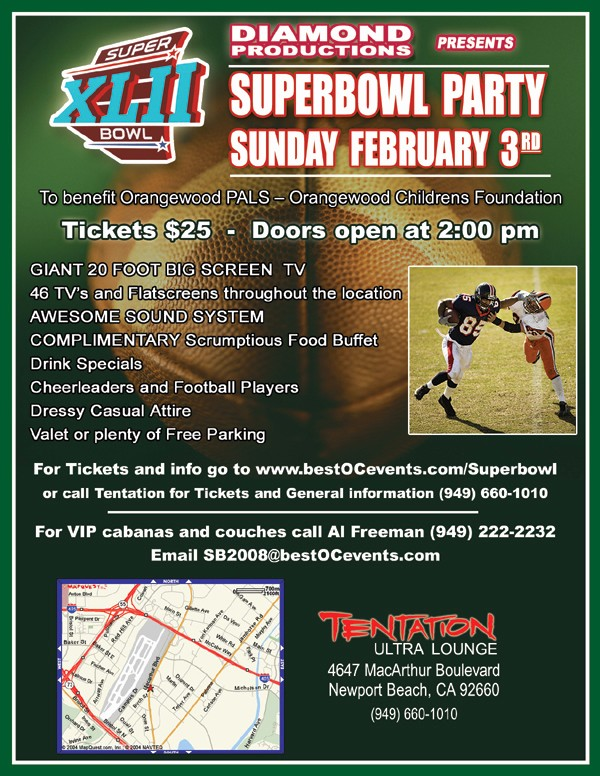 Super Bowl Party Flyer Template Luxury Best orange County events Super Bowl Party