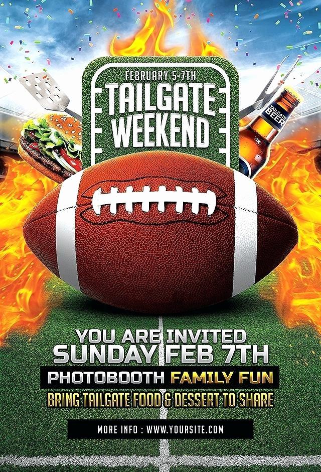 Super Bowl Party Flyer Template Luxury Super Bowl Party Flyer Template Football Party Bar Flyer