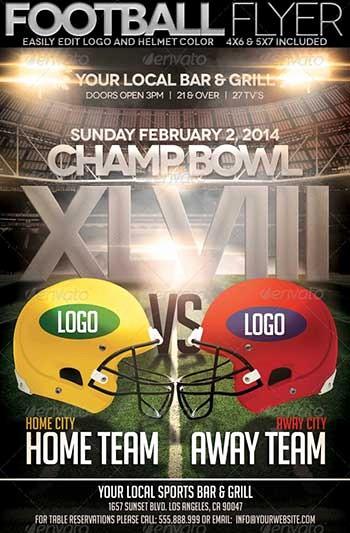 Super Bowl Party Flyer Template Unique Flyer Designs for that Super Bowl Party Templates