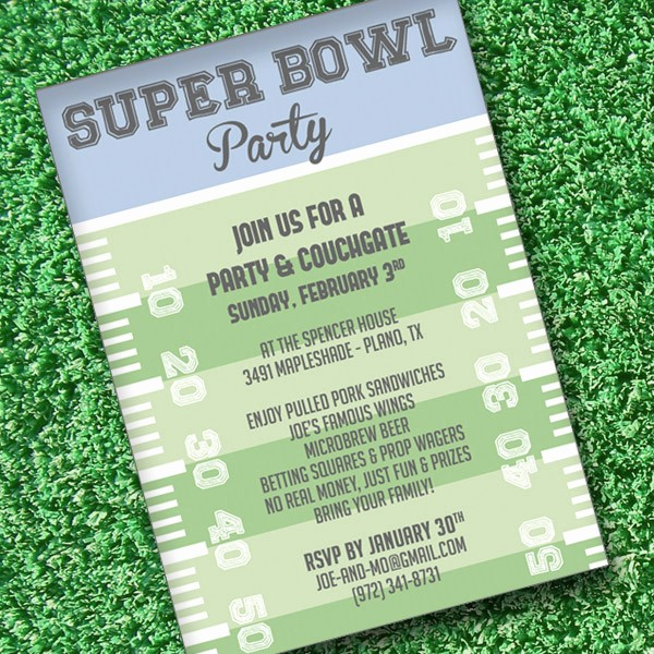 Super Bowl Party Flyer Template Unique Super Bowl Invitation Template – Download & Print