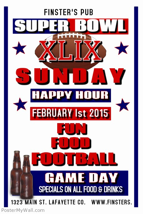 Super Bowl Party Flyer Template Unique Super Bowl Template