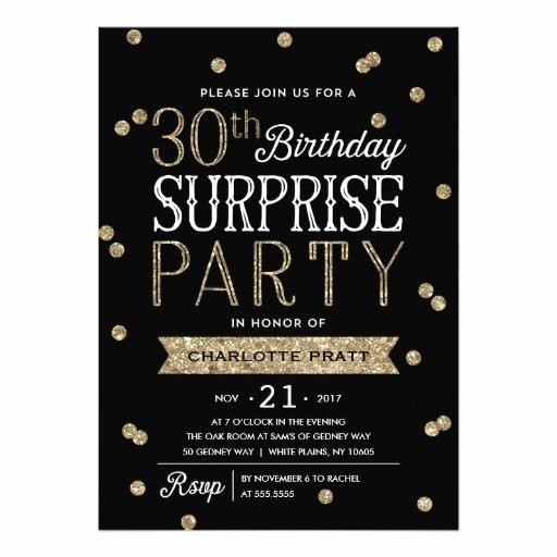 Surprise Birthday Party Invitation Template Awesome 20 Interesting 30th Birthday Invitations themes – Wording