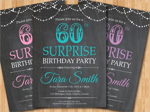 Surprise Birthday Party Invitation Template Beautiful 31 Examples Of Birthday Invitation Designs Psd Ai