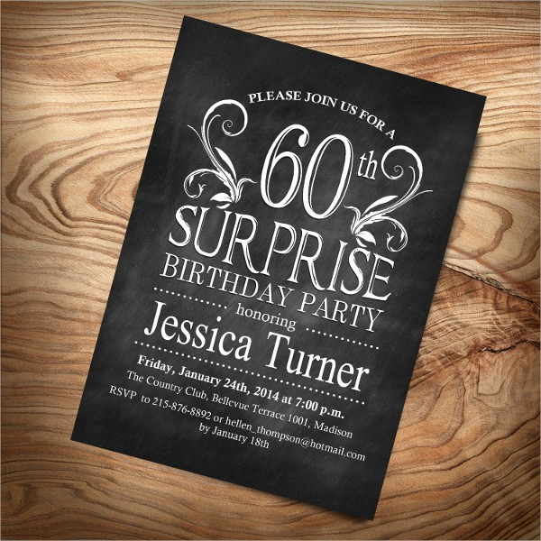 Surprise Birthday Party Invitation Template Best Of 8 Surprise Invitation Templates Free Editable Psd Ai