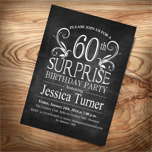Surprise Birthday Party Invitation Template Best Of 8 Surprise Invitation Templates Free Editable Psd Ai
