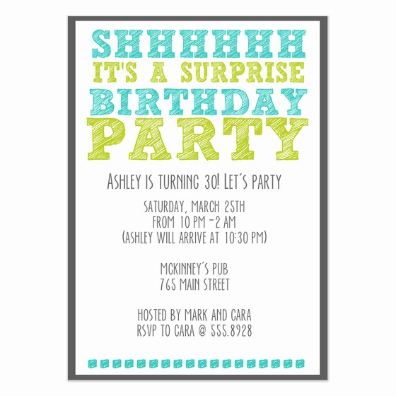 Surprise Birthday Party Invitation Template Best Of Surprise Birthday Party Invitations & Cards On Pingg