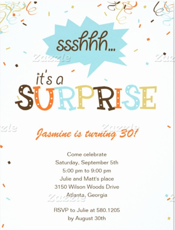 Surprise Birthday Party Invitation Template Elegant 14 Surprise Birthday Invitations Free Psd Vector Eps