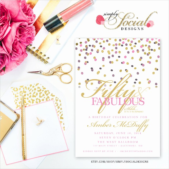 Surprise Birthday Party Invitation Template Elegant 26 Surprise Birthday Invitation Templates – Free Sample