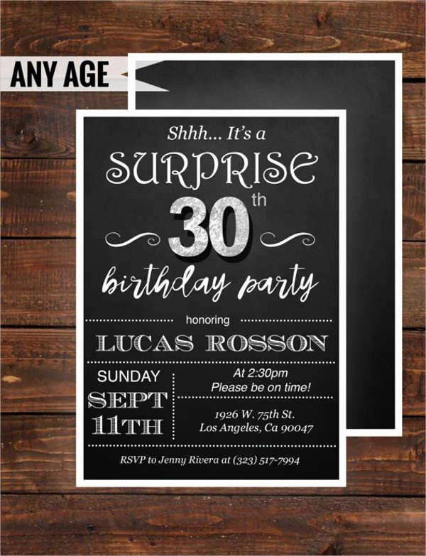 Surprise Birthday Party Invitation Template Elegant Templates In Pdf