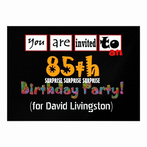 Surprise Birthday Party Invitation Template Fresh 68 Surprise 85th Birthday Party Invitations Surprise