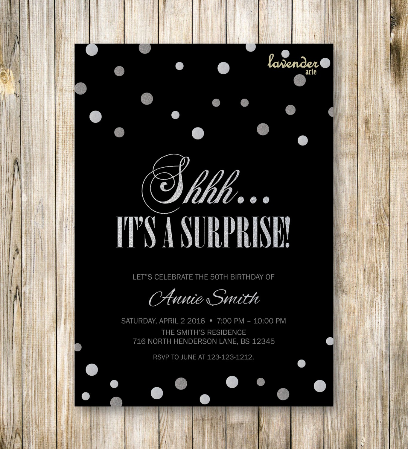 Surprise Birthday Party Invitation Template Fresh Shhh It S A Surprise Birthday Party Invitation Surprise