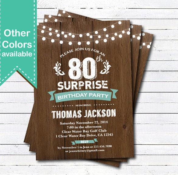 Surprise Birthday Party Invitation Template Inspirational 49 Birthday Invitation Templates Psd Ai Word