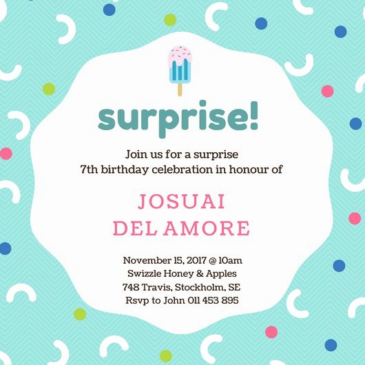 Surprise Birthday Party Invitation Template Inspirational Customize 3 999 Kids Party Invitation Templates Online