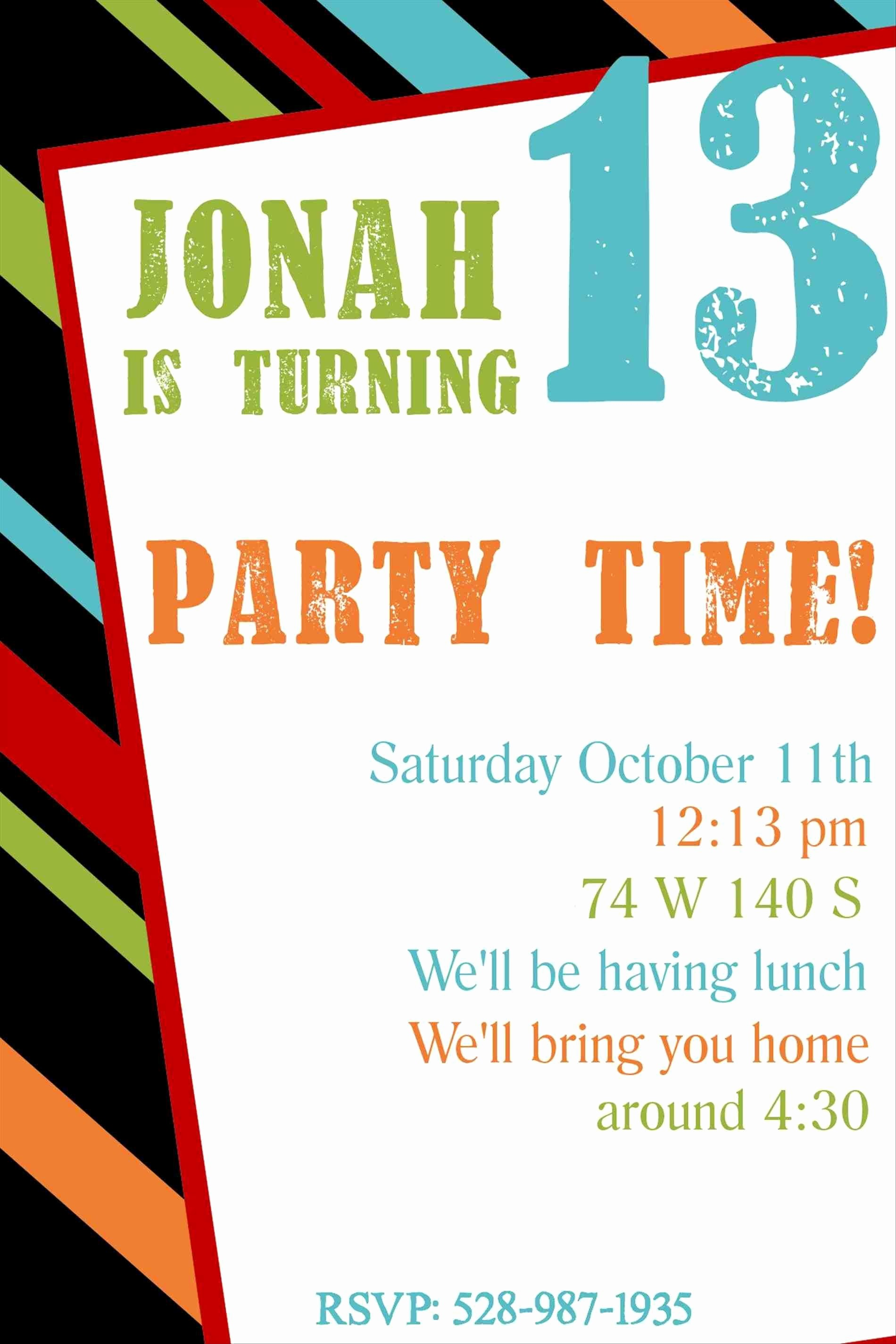 Surprise Birthday Party Invitation Template Inspirational Full Size Of Template Free Printable Kids Birthday Party