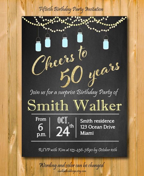 Surprise Birthday Party Invitation Template Inspirational Invitation Template 43 Free Printable Word Pdf Psd